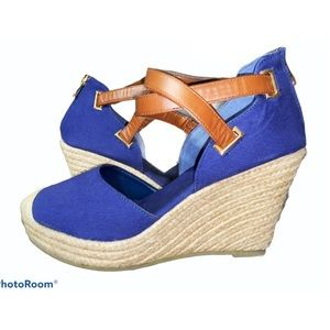 Jute and Fabric Wedges 💙